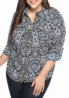 MICHAEL Michael Kors Plus Size Tapestry Top
