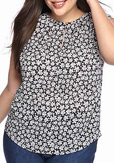 MICHAEL Michael Kors Plus Size Floral Top