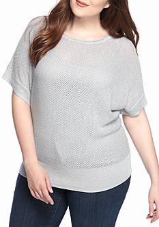 MICHAEL Michael Kors Plus Size Dolman Metallic Sweater