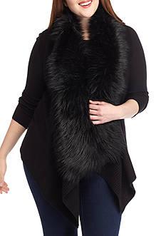 MICHAEL Michael Kors Plus Size Faux Fur Front Sweater Vest