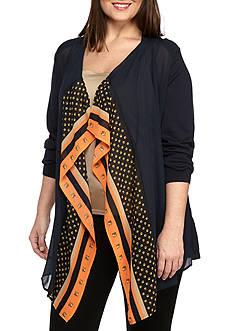 MICHAEL Michael Kors Plus Size Patterned Mix Cardigan