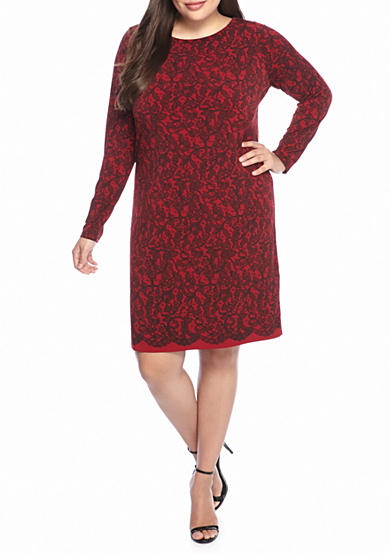 MICHAEL Michael Kors Plus Size Umbria Lace Border Dress