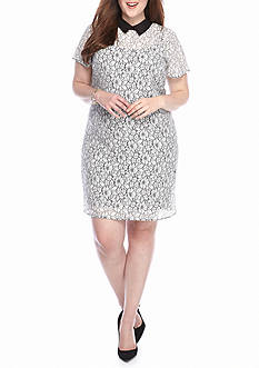 MICHAEL Michael Kors Plus Size Lace T-Shirt Dress