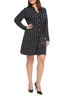 MICHAEL Michael Kors Plus Size Dressage Shirtdress