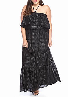 MICHAEL Michael Kors Plus Size Halter Embellished Maxi Dress