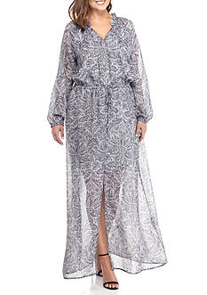 MICHAEL Michael Kors Plus Hamilton Maxi Dress