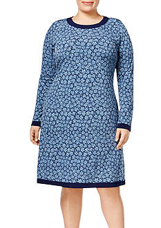 MICHAEL Michael Kors Plus Size Tex Bayeux Long Sleeve Dress