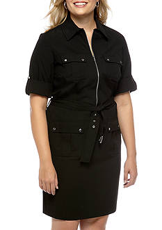 MICHAEL Michael Kors Plus Size Roll Sleeve Dress