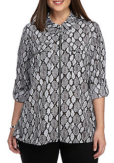 MICHAEL Michael Kors Plus Size Peloplia Dog Tag Shirt