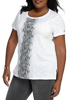 MICHAEL Michael Kors Plus Size Metallic Snake Ombre T-Shirt