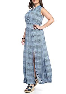 MICHAEL Michael Kors Plus Size Zephyr Slit Maxi Dress