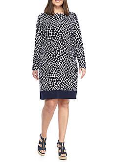 MICHAEL Michael Kors Plus Size Crocodile Pattern Dress