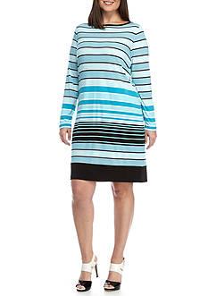 MICHAEL Michael Kors Plus Size Abbey Striped Dress