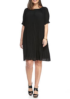 MICHAEL Michael Kors Plus Size Pleat Dress