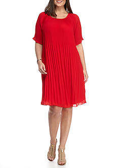 MICHAEL Michael Kors Plus Size Pleat Dress