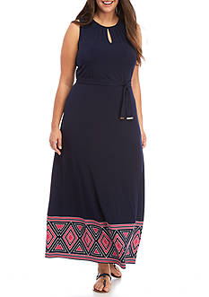 MICHAEL Michael Kors Plus Size Border Maxi Tank Dress