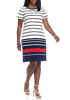 MICHAEL Michael Kors Plus Size Short Sleeve Dress