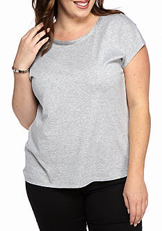 MICHAEL Michael Kors Plus Size Metallic Trim Top
