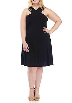 MICHAEL Michael Kors Plus Size Cross Neck Dress