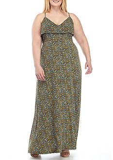 MICHAEL Michael Kors Plus Size Quinn Flounce Maxi Dress