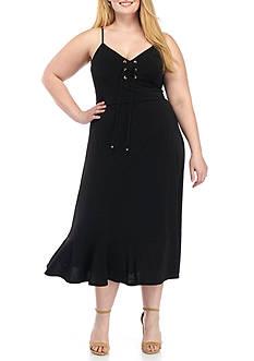 MICHAEL Michael Kors Plus Size Lacing Slip Dress