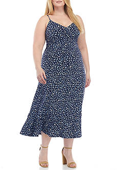 MICHAEL Michael Kors Plus Size Quinn Lacing Slip Dress