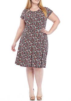 MICHAEL Michael Kors Plus Size Brooks Shirred Neck Dress