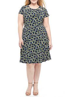 MICHAEL Michael Kors Plus Size Hayden Shirred Neck Dress