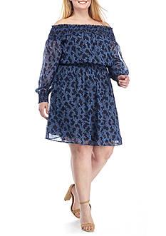 MICHAEL Michael Kors Plus Size Arbor Smocked Dress