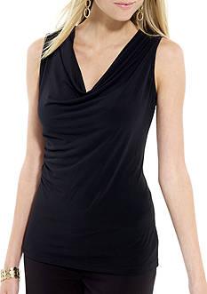 Calvin Klein Sleeveless Cowlneck Knit Top