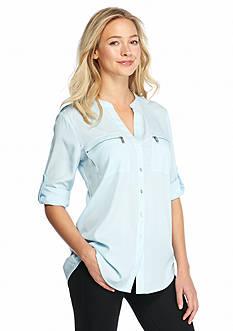 Calvin Klein Zipper Pocket Top