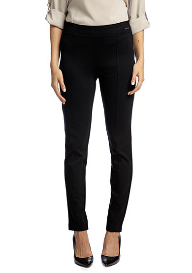 Calvin Klein Pull On Ponte Skinny Pant with Front Seams