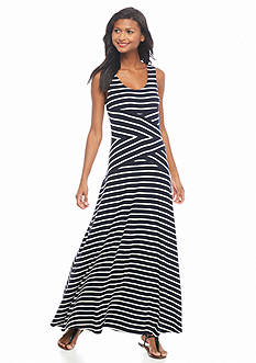 Calvin Klein Striped Maxi Dress