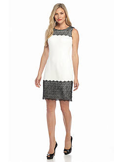 Calvin Klein Lace Trim Sheath Dress