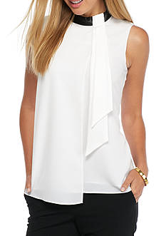 Calvin Klein Sleeveless Overlay Top