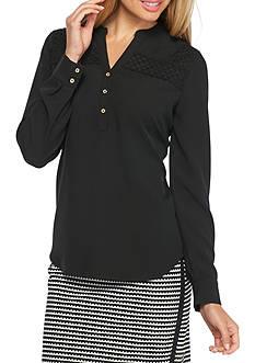 Calvin Klein Long Sleeve Lace Top