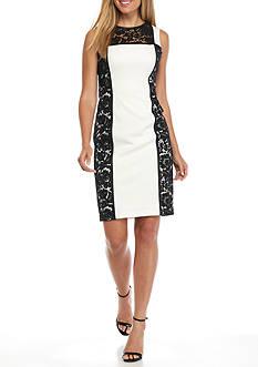 Calvin Klein Lace Panel Sheath Dress