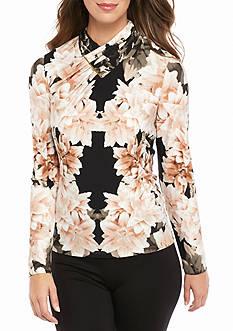 Calvin Klein Long Sleeve Printed Top