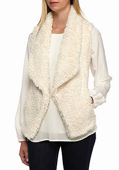 Calvin Klein Short Hair Faux Fur Vest