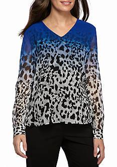 Calvin Klein Printed V Neck Top