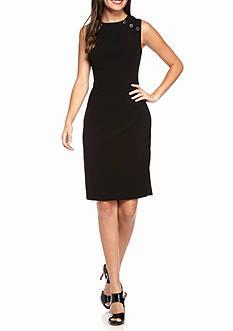 Calvin Klein Button Accented Sheath Dress