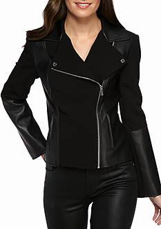 Calvin Klein Zip Up Moto Jacket