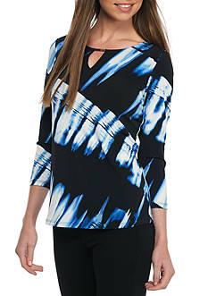 Calvin Klein Printed 3/4 Sleeve Top