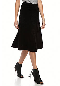 Calvin Klein Faux Suede Boot Skirt