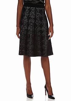 Calvin Klein Snake Detail Flare Skirt
