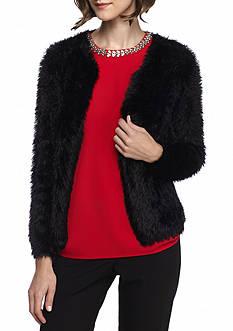 Calvin Klein Fuzzy Open Cardigan