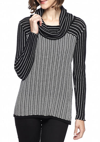 Calvin Klein Colorblock Cowl-Neck Sweater