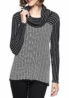 Calvin Klein Colorblock Cowl-Neck Sweater