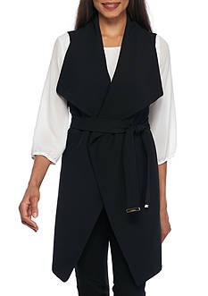 Calvin Klein Long Flyaway Vest