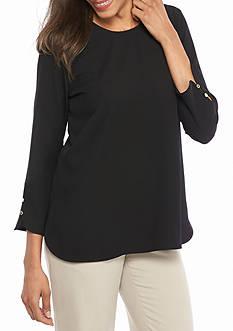 Calvin Klein Button Sleeve Detail Blouse